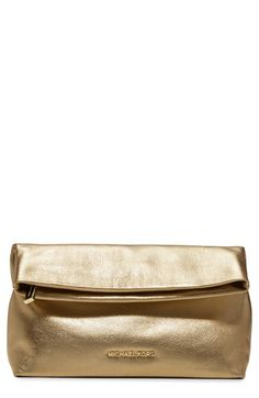 MICHAEL Michael Kors 'Daria' Foldover Clutch available at #Nordstrom