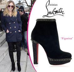 Elizabeth Olsen in Christian Louboutin Figurina boots