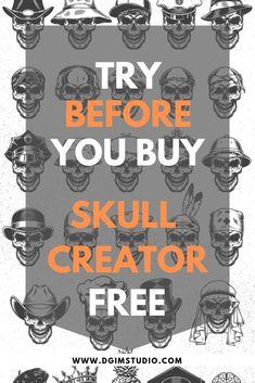 474 Best Created With Skull Creator images in 2019 | Skulls, Skull