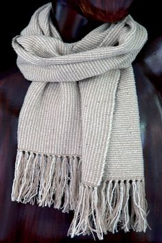 9962d710532 Raw Silk Scarf Hand Woven in Natural Shades