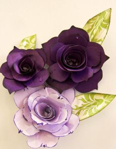 Paula's Roses - Tutorial 1.. I really like the distress ink for the edges (click on visit site to see the tutorial)