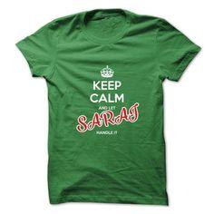 Keep Calm And Let SARAI Handle It - #slogan tee #sweatshirt man. LIMITED TIME PRICE => https://www.sunfrog.com/No-Category/Keep-Calm-And-Let-SARAI-Handle-It.html?68278