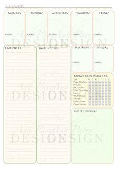 Download A Week Calendar Template From VertexCom  Calendars