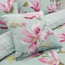 Duck Egg Magnolia Square Cushion