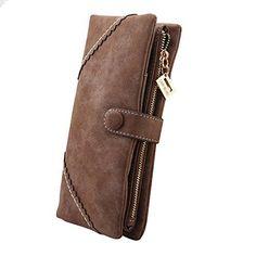 Oferta: 9.99€. Comprar Ofertas de Billetera de mujer,Cozyswan Cartera de cuero bolso botón Cartera De Mujer (Café) barato. ¡Mira las ofertas!
