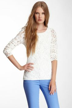 Silk Lined Lace Top