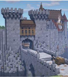 Video Minecraft, Art Minecraft, Minecraft City Buildings, Cute Minecraft Houses, Minecraft Plans, Minecraft House Designs, Minecraft Survival, Amazing Minecraft, Minecraft Architecture