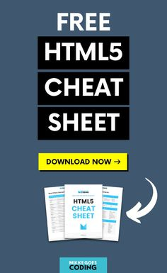 Do you need a free cheat sheet to speed up your workflow? Get this free HTML printable to learn web development faster starting now. Computer Coding, Computer Programming, Computer Science, Programming Languages, Learn Html, Learn To Code, Learn Coding, Html Cheat Sheet, Cheat Sheets