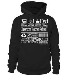 Classroom Teacher Retired Multitasking Job Title T-Shirt #ClassroomTeacherRetired