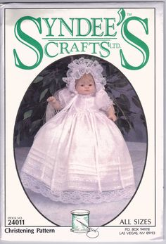 Syndee's Crafts Doll Christening Gown Pattern