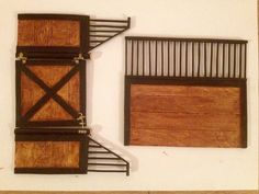 Some of the finished stall panels for the Schleich stable we are making.