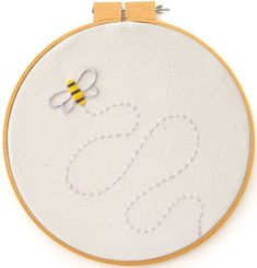 Bee Embroidery Pattern - Bee's Knees Industries Blog   Art Crafts Tutorials Printables and More for Kids and Adults Alike
