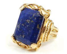 Gold Lapis Belle Epoque Ring
