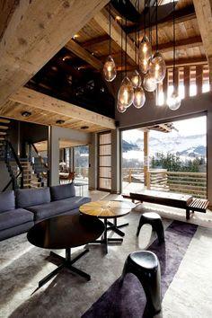 #chalet #modernrustic #livingroom