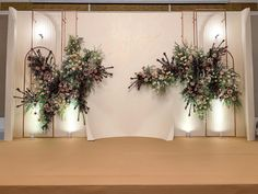 Image may contain: plant and indoor Wedding Reception Backdrop, Wedding Stage Decorations, Engagement Decorations, Backdrop Decorations, Flowers Decoration, Backdrops, Wedding Colors, Wedding Flowers, Photo Booth Backdrop