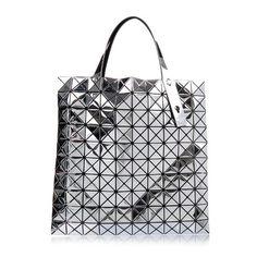 Bao Bao Issey Miyake Prism tote (¥117,240) ❤ liked on Polyvore featuring bags, handbags, tote bags, silver, tote bag purse, mesh handbag, mesh tote bag, tote handbags and handbags totes