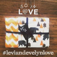    NEW ORDER    Our modern, geometric Bear Hunt reversible minky blanket has found its way to a new home. xo #leviandevelyn #leviandevelynlove  #bearhunt