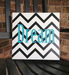 Custom Wood Sign  Chevron Dream Hand by SignLanguageDesigns, $35.00