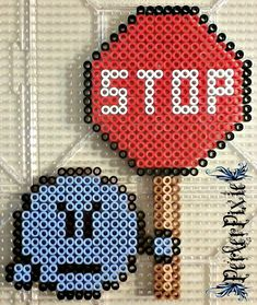 Emot With Stop Sign by PerlerPixie.deviantart.com on @DeviantArt