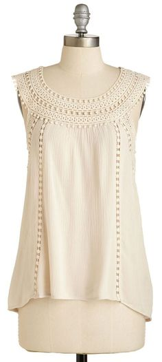 Cream Crochet top women Cotton |