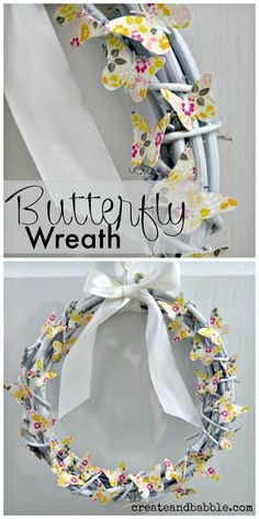 Easy To Make Butterfly Wreath