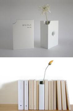 Book + Vase = Book Vase- clever!!!!