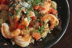 Simple Skillet Shrimp Over Whole Wheat Couscous for 1