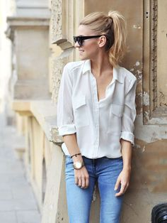 Fashion Fix: Witte blouse - My Simply Special
