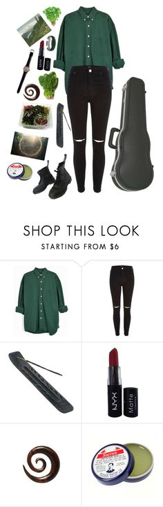 """Untitled #438"" by cupcakebeth ❤ liked on Polyvore featuring River Island, NYX, Strange Days, Rosebud Perfume Co. and Vegetarian Shoes"