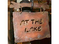"""Metal """"At the Lake"""" Wall Decor"""