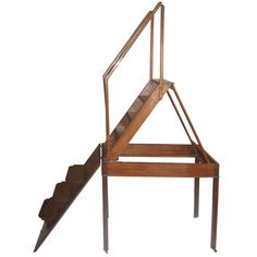 19th Century Metamorphic Table/Library Ladder  i think i would not be comfortable stepping on this.