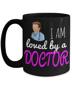 Medical Doctor Gifts - Doctor Office Gifts -Gifts Ideas For A Doctors - Best Funny Doctor Gift - Doctor Gag Gifts - Doctor Themed Gifts - I am Loved By a Doctor Black Mug  checkout more at yesecart.com #yesecart #gift #present
