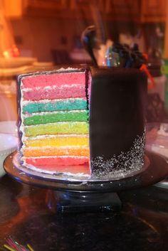 Neon cake, next birthday cake please Neon Birthday, Birthday Cake, Mini Cakes, Cupcake Cakes, Cupcakes, No Bake Cookies, No Bake Cake, Neon Party Themes, Neon Cakes