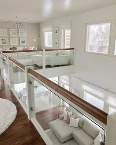 Image may contain: table and indoor Dream House Interior, Dream Home Design, Modern House Design, Interior Design Living Room, Living Room Designs, Interior Railings, Pinterest Home, Dream House Plans, House Rooms