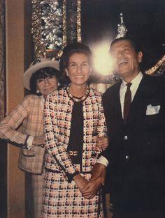 Circa 1970 - Coco Chanel, Jeffie Pike Durham et Serge Lifar