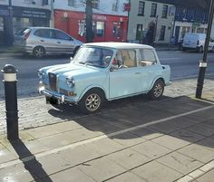 Not a Riley Elf but a Woseley Hornet in a killer colour.