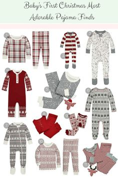 Christmas PJs for Baby, Baby's first Christmas adorable pajama finds, affordable Christmas pjs for baby, First Christmas pajamas, girl pajamas, boy pajamas, girl's first Christmas clothing, boy's first Christmas clothing