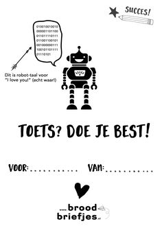 Toetsweek_extra_Broodbriefjes Lunch Box Notes, Best Cell Phone, Free Prints, Bento Box, Quotes For Kids, Happy Kids, Teaching English, Kids Meals, Snapchat