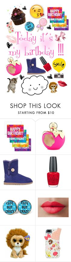 """Today it´s my Birthday ! 10/21"" by nina-dil ❤ liked on Polyvore featuring notNeutral, Nina Ricci, UGG Australia, OPI and LORAC"