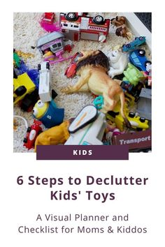 Do you feel like your whole house has become a playroom? Then you need the 6 Steps To Decluttering Toys Visual Planner + Checklist! These two printables will help you AND your kiddo declutter toys with ease! Click to download now and say goodbye to too many toys forever! #toys #organizedkids Small Playroom, Toddler Playroom, Kids Room Organization, Step Kids, Decluttering, Kids Bedroom, Kids Toys, Printables, Children