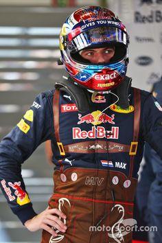 Max Verstappen, Red Bull Racing in Lederhosen race suit