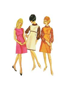 Simplicity 6643 Sewing Pattern 60s Mod by AdeleBeeAnnPatterns, $8.50