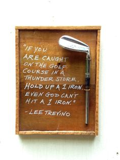 Lee Trevino 1 Iron A unique golf gift made from by GolfArtHandmade