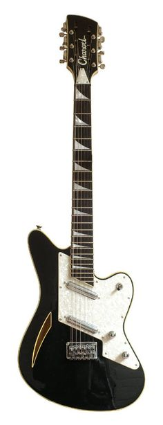 CHARVEL Surfcaster 12 (1992) Black, Twin Lipstick Pickups, 3-Way Selector, Volume, Tone, 12-String