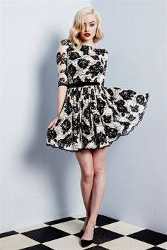Wheels and Dollbaby - Jardin Noir Lace Picnic dress