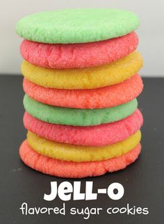 Jell-O Flavored Sugar Cookies - super easy and fun to make! Jell-O Flavored Sugar Cookies - super easy and fun to make! Jello Cookies, Easter Cookies, Sugar Cookies Recipe, Cookie Desserts, Yummy Cookies, Cupcake Cookies, Cookie Favors, Baby Cookies, Flower Cookies
