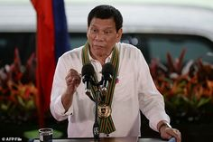 """Philippine President Rodrigo Duterte lashed out at President Barack Obama, telling the U. commander-in-chief, """"you can go to hell. Rodrigo Duterte, Davao, Greatest Presidents, Us Presidents, Election In The Philippines, Barack Obama, New President, Human Rights, Current Events"""