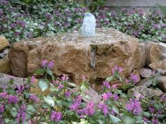 A Bubbling Rock provides the soothing sounds of a waterfall without requiring a lot of space.