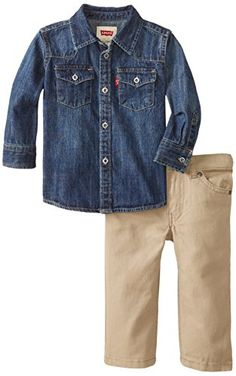 Levi's Baby-Boys Infant Perfect Present Barstow Woven Top with 514 Peached Twill Pant 2 Piece Set, Clouded Tones/Chinchilla, 12 Months Levi's http://www.amazon.com/dp/B00NO69PZS/ref=cm_sw_r_pi_dp_32Qcvb0GWGPB1
