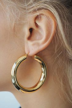 FAYE HOOPS, XL – Lili Claspe Jewel Box, Polished Brass, Hoop Earrings, Jewels, Gold, Jewerly, Jewelry Box, Gemstones, Coffer
